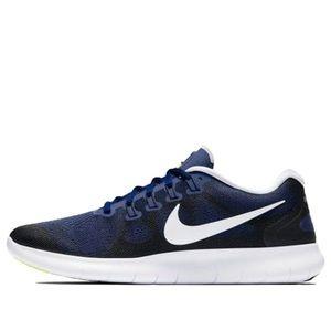Nike mens Free RN 2017 blue running shoes 12.5